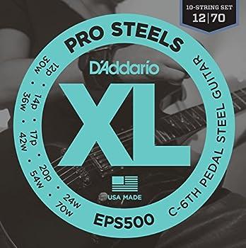 D Addario EPS500 Pedal Steel Strings C-6th