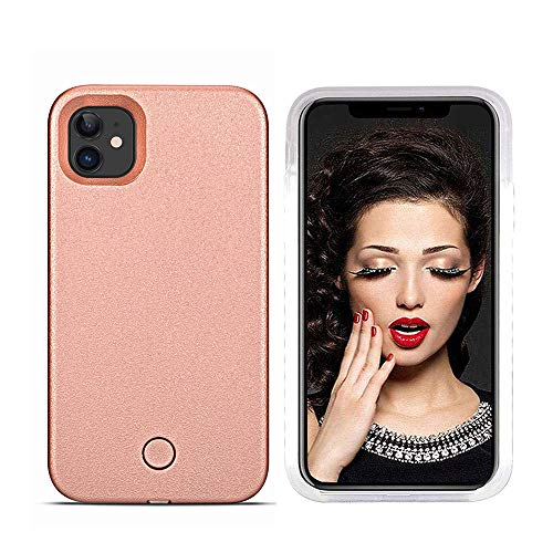 LNtech Selfie Light up Case for iPhone 11 Pro Max, LED Case with Rechargeable Illuminated Luminous Lights (Rose Gold, iPhone 11 Pro Max)
