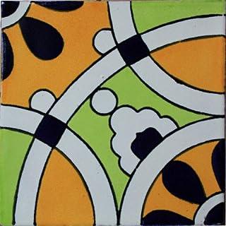 Fine Crafts Imports 4.2x4.2 9 pcs Nube Santa Barbara Mexican Tile