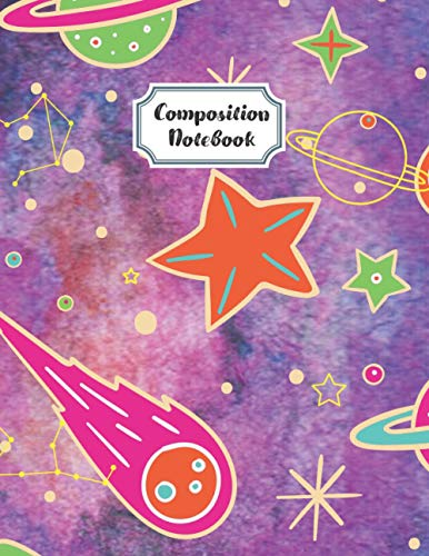 Composition Notebook Wide Ruled: Picture Space Grades K-2 School Primary Exercise Book