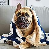 ZUEN 2Er-Pack Dog Cat Nap Fleece Blanket Wurf, Fluffy Warm Hundebettdecke Fleece Pet Blanket Maschinenwaschbar Pet Kitten Puppy Schlaf-Matte Und Bettdecke, Rosa Und Blau