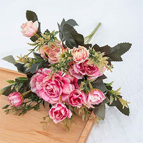PPLAX Peonías Artificiales Flores de Seda para la decoración del hogar Plastic...