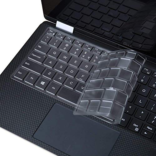 Ultra Thin Clear Keyboard Cover for 2019 Released Model Dell XPS 13 9380, Dell XPS 9370 and 9365 13-Inch 2 in 1 Ultrabook Computer(2018/2017),XPS 13 Standard 7390(Not for 2-in-1 7390)