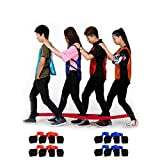 4 Legged Race Band, Outdoor Party Group Game for Kid Adult, Cooperative Team Race for Birthday Party, Relay Race, Field Day, Team-Building, Backyard Activity Game with Carrying Pouch(2 pack)