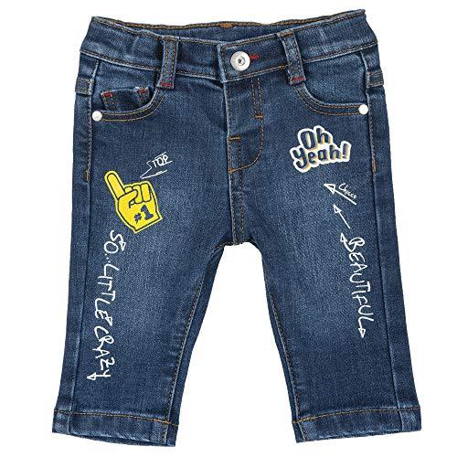 Chicco Baby-Jungen Pantaloni LUNGHI Jeans, blau, 62