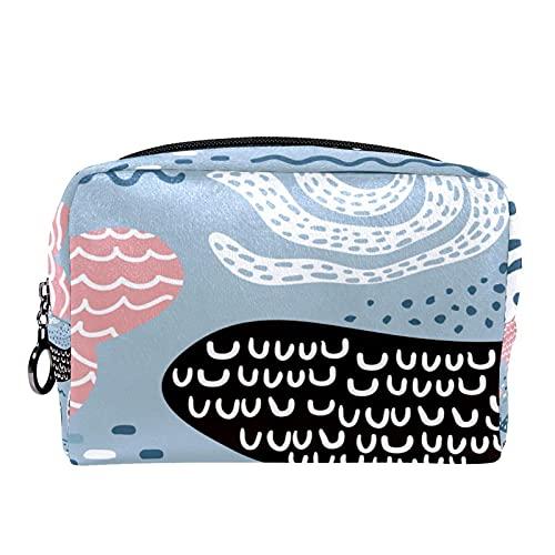 Bolsa cosmética compacta Bolsa de Maquillaje Monedero, Textura Infantil