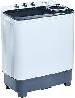 Midea MLTT11M2NUBW - Lavadora Semiautomática, 2 Tinas, 11 kg Lavado/7,8 kg Centrifugado, Color Blanco