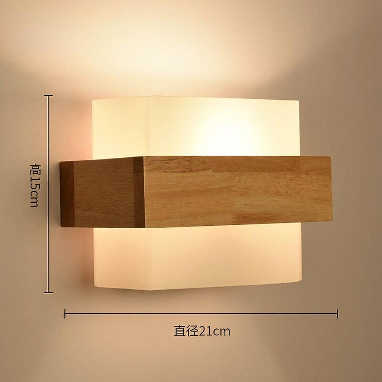 StiefelU LED Wandleuchte nach oben und unten Wandleuchten Galerie Schlafzimmer Wohnzimmer Massivholz Wandleuchte, I)