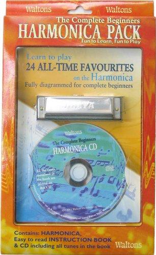 Waltons 1532 - Armónica y accesorios (libro, CD), color plateado