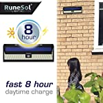 RuneSol 86 LED Motion Sensor Solar Powered Light | LED Garden Lights - Light Your Patio, Fence, Garden, Driveway… 5