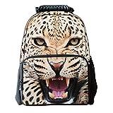 Zrong 3D Animal Print Mochila Escolar Bag Infantil Multifuncional Pantera
