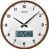 Seiko QXL008B - Reloj Digital y analógico de Pared de Cuarzo