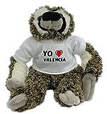 Bradypus de peluche con Amo Valencia en la camiseta (ciudad / asentamiento)