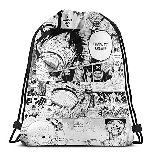 Manga de una sola pieza unisex de fútbol, natación, deportes, gimnasio, zapatos de viaje, mochila plegable para mochila escolar para niños y niñas, hombres y mujeres