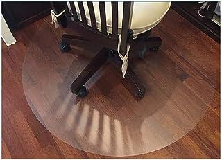 Zinn - Alfombrilla protectora circular translúcida para silla, cubierta protectora de suelo de madera antiincrustante, resistente al agua para alfombras de pelo bajo, base de maceta