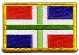 Flaggen Aufnäher Niederlande Groningen Fahne Patch +