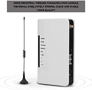 FOSA GSM Gateways 850/900/1800/1900MHz Wireless to Wired Telephone Box, 24-Hour Work Can Connect The Phone Box Alarm Recorder to Make Calls with External Antenna (US Plug)