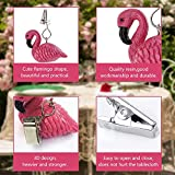 ibvenit 4er Set Tischdeckenbeschwerer für draußen Tischtuchklammern Tischtuchbeschwerer mit Klemmkraft Tischdeckenbeschwerer Vorhang Beschwerer Flamingo Tischdecken Gewichte - 3