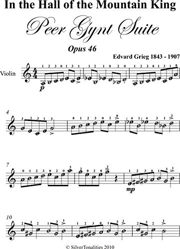 In the Hall of the Mountain King Easy Violin Sheet Music (English Edition)