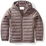 Amazon Essentials Kids Boys Light-Weight Water-Resistant Packable Hooded Puffer Jackets Coats, Grey,...