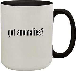got anomalies? - 15oz Colored Inner & Handle Ceramic Coffee Mug, Black