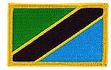 Akacha Aufnäher, Bestickt, Flagge Tansania, zum Aufbügeln, Rucksack