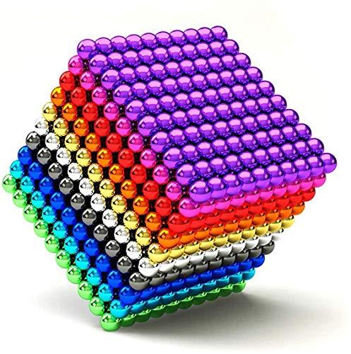 ESGT 1000 Piezas de 5 mm Juguetes de Bricolaje Bloques de construcción para el Desarrollo Aprendizaje y Alivio del estrés Imán Escritorio de Oficina Juguetes para Adultos