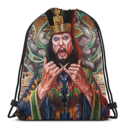 Yuanmeiju Big Trouble in Little China Drawstring Backpack is Portable, Large Capacity and Durable Classic Drawstring Bag, Unisex, Suitable for Outdoor Sports