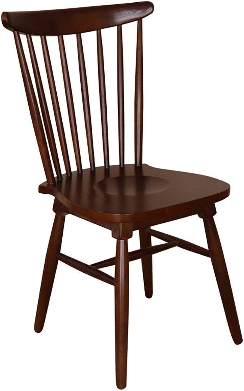 Home Bar Stool Chair European Solid Wood Dining Chair Creative Home Solid Wood Chair Leisure Chair Cafe Bar Stools Home Bar Furniture (color   Brown)