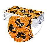 RRXX Halloween 30 Stück Kinder 3-lagig Filtrierende Mundschutz, zum Einmalgebrauch Nasen-Mundschutz Einmalmasken Masken Maske Masken Kinderschutzmasken Masken mit Motiv 2021