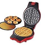 Waffle Maker, 3 en 1 800W Horno doméstico Mini Puerto eléctrico portátil Waffle Waffle Hierro con pan no palo fácil de limpiar, para desayuno Sandwiches Donuts Donuts Rollos de huevos y gofres