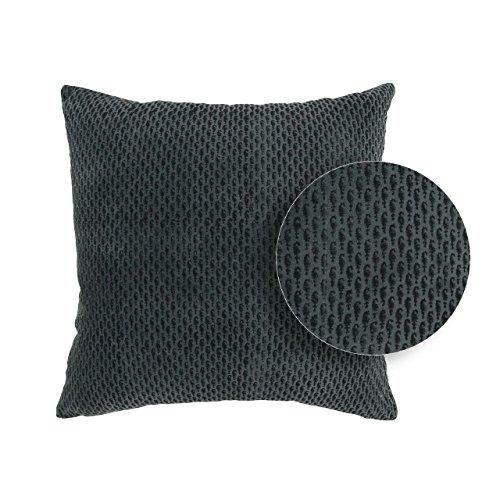 Vivaraise ~ Coussin Rosetta Ardoise Coton 45x45