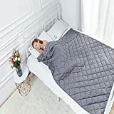 Hypnoser Weighted Blanket 2.0 for Kids,Adults,Heavy Blanket (48'x72' 10 Lbs, Dark Grey,Fit Twin Full Size Bed)