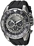 Invicta Men's Speedway 50mm Stainless Steel and Silicone Chronograph Quartz Watch, Black (Model: 26308)