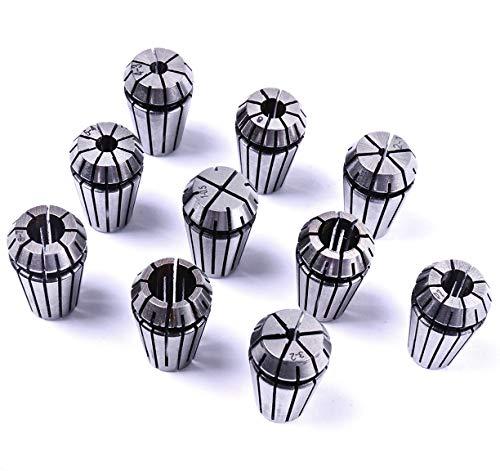 Präzisions-ER16 ER-16 Federzange von Atoplee als Set für CNC-Gravurmaschine und Fräsdrehmaschine (alle 10 Größen)