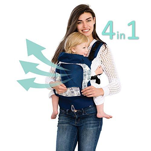 LÍLLÉbaby 4-in-1 Essentials All Seasons Ergonomic Baby & Child Carrier, Seven Seas - Cotton