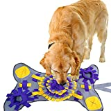 PET SPPTIES Alfombra Suave para Mascotas Olfato para el Trabajo Alfombra de Entrenamiento Estera de Entrenamiento para Perros PS063 (Bone Shaped,Yellow & Purple)