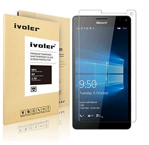 iVoler Pellicola di protezione in Vetro Temperato per Microsoft Lumia 950 XL, Vetro con Durezza 9H