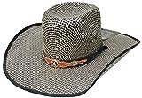 Modestone Traditional Bangora Rodeo Straw Cowboy-Hut Grey