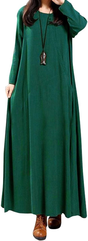 Generic Lady's Pure color retro dress