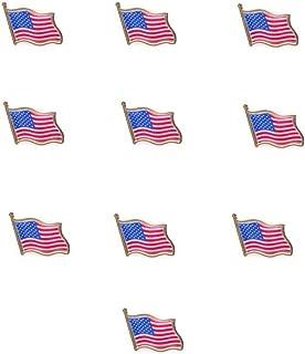 OULII ESTADOS UNIDOS bandera americana Pin USA sombrero lazo insignia patillas Pack 10pcs