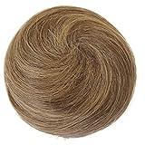 PRETTYSHOP 100% ECHTHAAR DUTT Hochsteckfrisuren Haarteil Haarknoten Hepburn Dutt Haargummi Dunkelblond Mix H311o