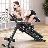LLSS Panca Dorsali Addominali Fitness Pieghevole Multifunzione Macchine per Fitness per Casa...