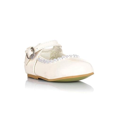 ee0ca2c6807c Tia London Girls Party Wedding Bridesmaids Christening Shoes Buckle Infants  1 2 3 4 5 6