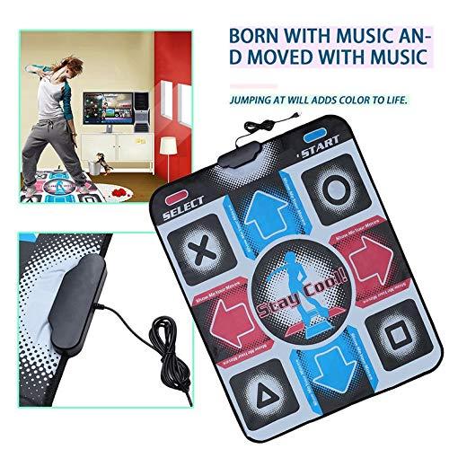 CamKpell rutschfeste, strapazierfähige, verschleißfeste Tanzschrittmatten-Pad-Pads Tänzerdecke zum PC mit USB für Bodybuilding-Fitness - Mehrfarbig