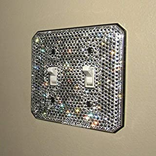 Swarovski FULLY CRYSTALLIZED Switch Plate Toggle Rocker Light Switch Cover Bling Crystals Chrome