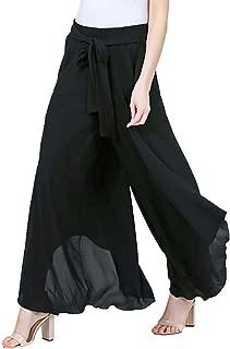 Womens Cropped Palazzo Pants Wide Leg Lounge Pant Flowy Capri Trouser Causal
