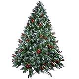 🎄 【Materiale ecologico】 : Le foglie di questo albero di Natale artificiale sono realizzate con un nuovo materiale in PVC denso e realistico di alta qualità, che non solo rende l'albero più reale e pieno, ma aggiunge anche l'anti-abilità -crush per l'...
