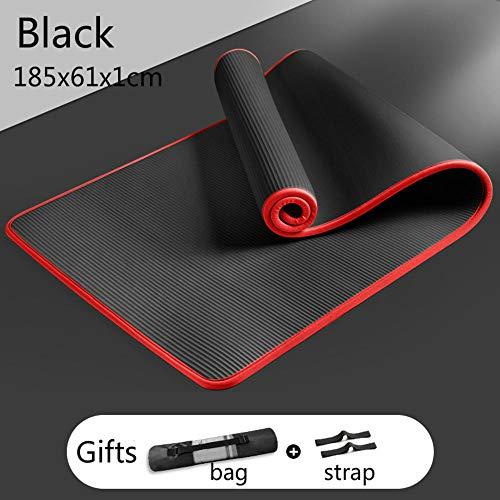 185 cm Coprimaterasso Yoga Mat Addensare Ampliamento Donna Uomo Antiscivolo Yoga Pilates Dance Fitness Pad Palestra Home Fitness Principianti