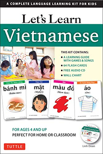 Compare Textbook Prices for Let's Learn Vietnamese Kit: A Complete Language Learning Kit for Kids 64 Flashcards, Audio CD, Games & Songs, Learning Guide and Wall Chart Bilingual Edition ISBN 9780804846967 by Doan, Linh